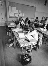 Undervisning 1970-tal. Förmodligen i Stockholm. Foto: Jan Eve Olsson